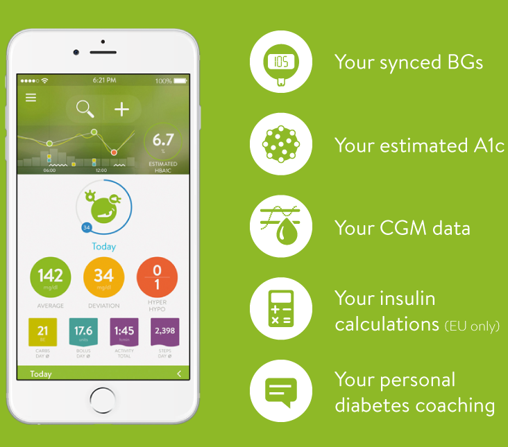 The mySugr App on a smartphone