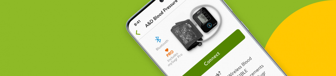 mySugr's NEW A&D Blood Pressure Monitor Integration on Android (US only)!