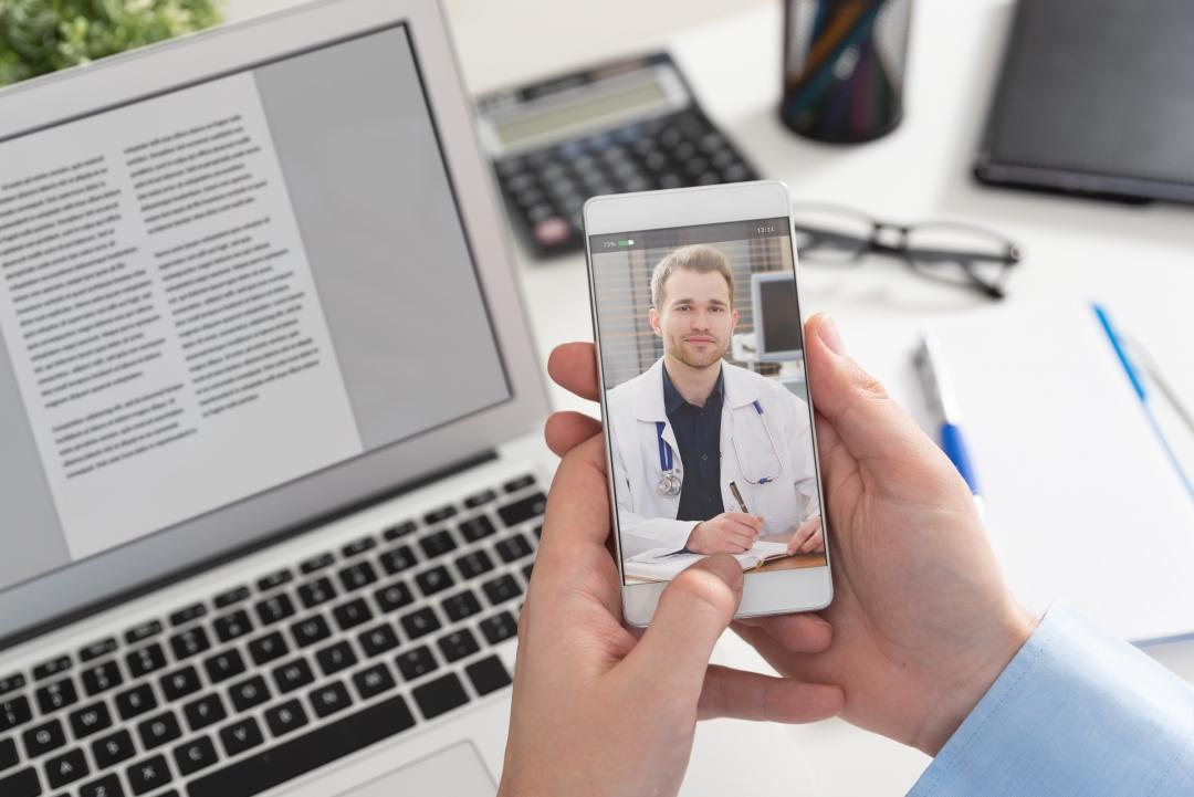Healthcare provider access on smarphone