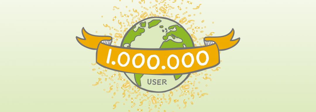 1 Million User – monstermäßig lieben Dank!
