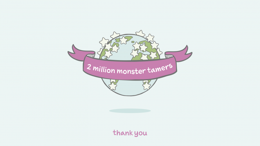 2 million lives impacted. Celebrating a big milestone with you.