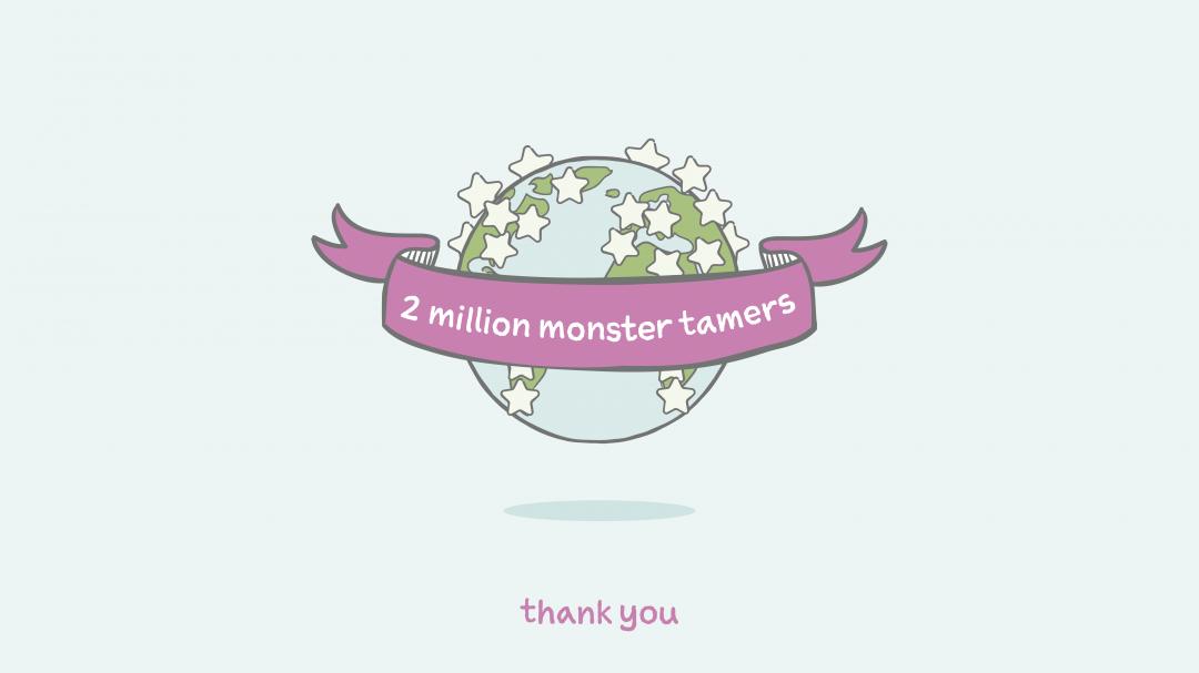 2 Millionen Leben beeinflusst. Wir feiern einen großen Meilenstein mit euch.