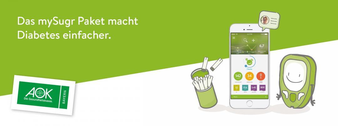 Das mySugr Paket – jetzt auch auf Rezept bei der AOK Bayern