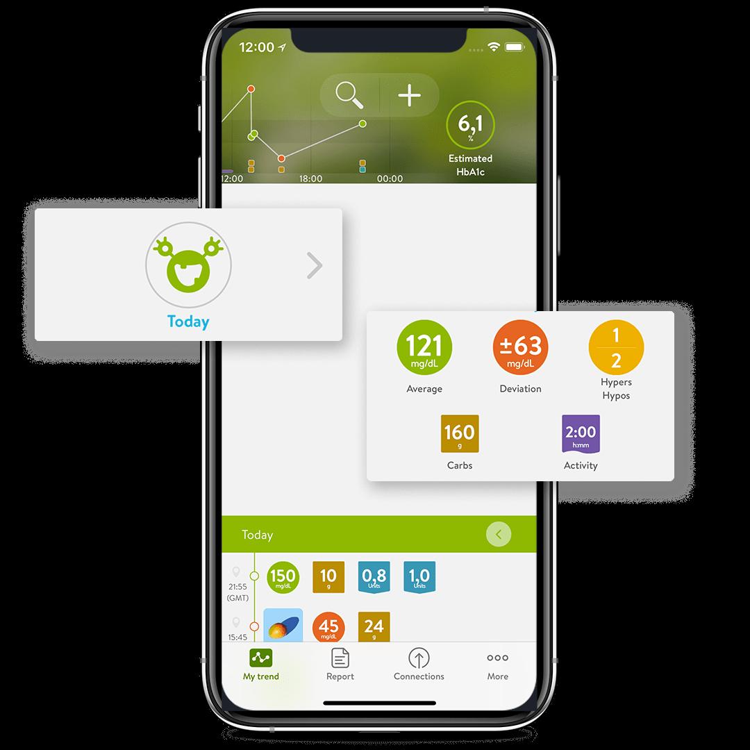 mySugr App personalised logging screen feature