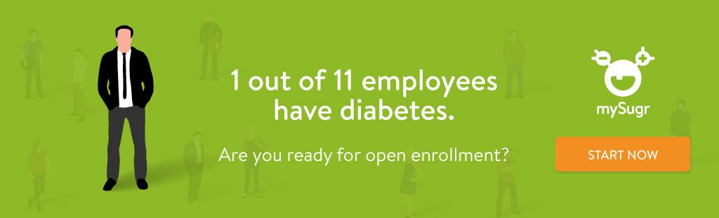 1 of 11 employees have diabetes
