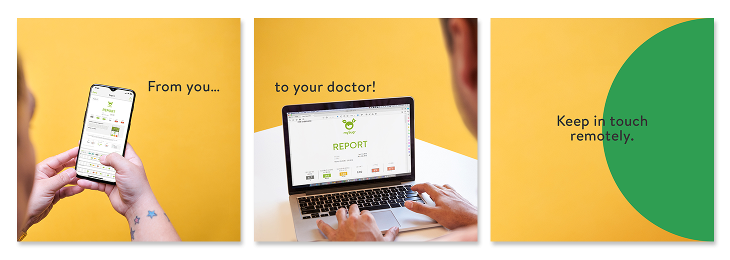 From you to your doctor. Keep in touch remotely.