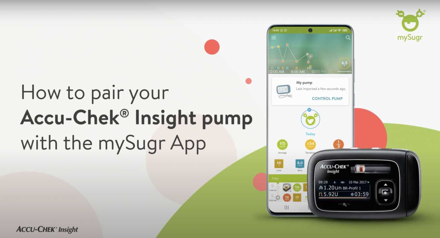 How to pair your Accu-Chek Insight pump with the mySugr App
