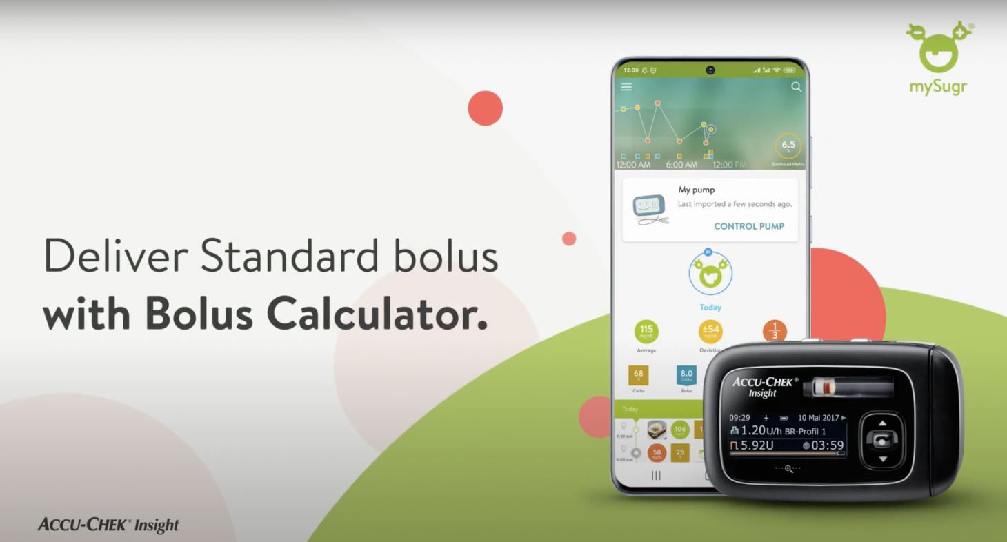 Deliver Standard bolus with Bolus Calculator