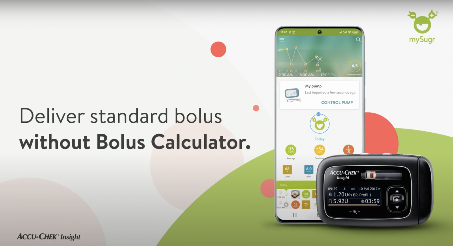 Deliver Standard bolus without Bolus Calculator