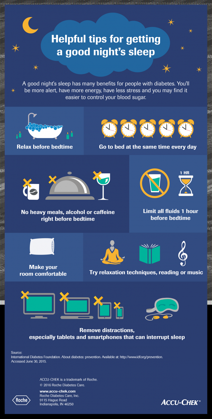 Tips for sleeping better infographic