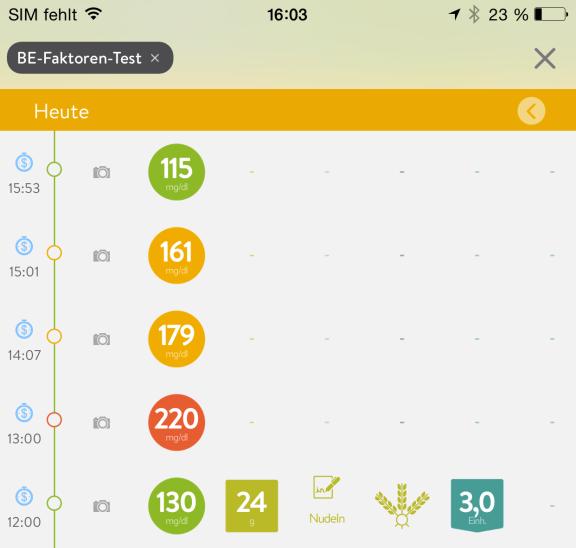 mySugr Tagebuch App