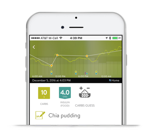 mySugr app entry screen
