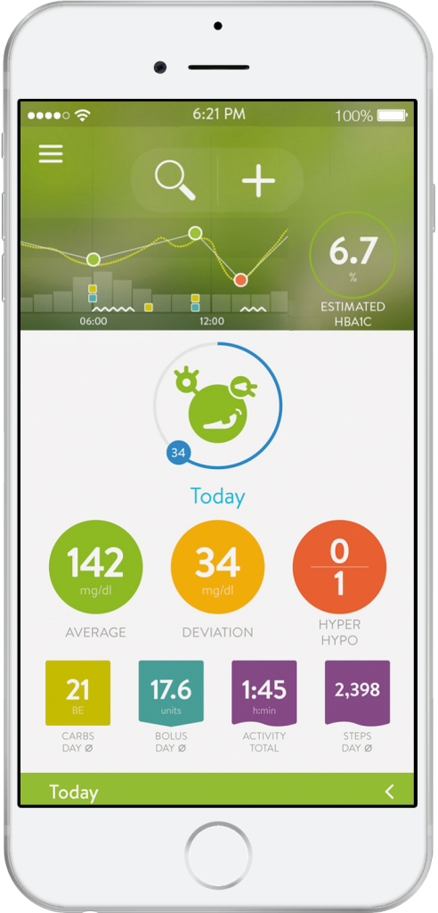 mySugr Logbook Homescreen
