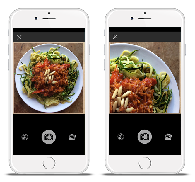 Two images of mySugr Logbook photo screens