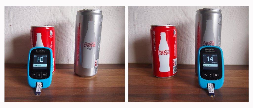 Cola Check Accu Check Aviva Connect