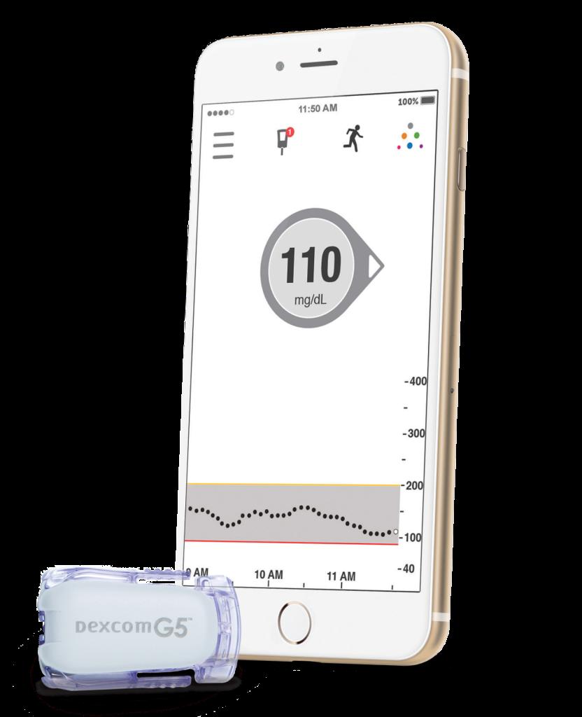 Dexcom G5 transmitter and iPhone