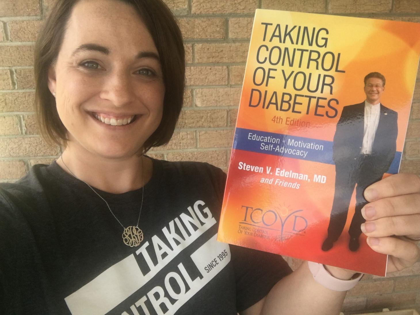 Sarah at TCOYD with Steve's book