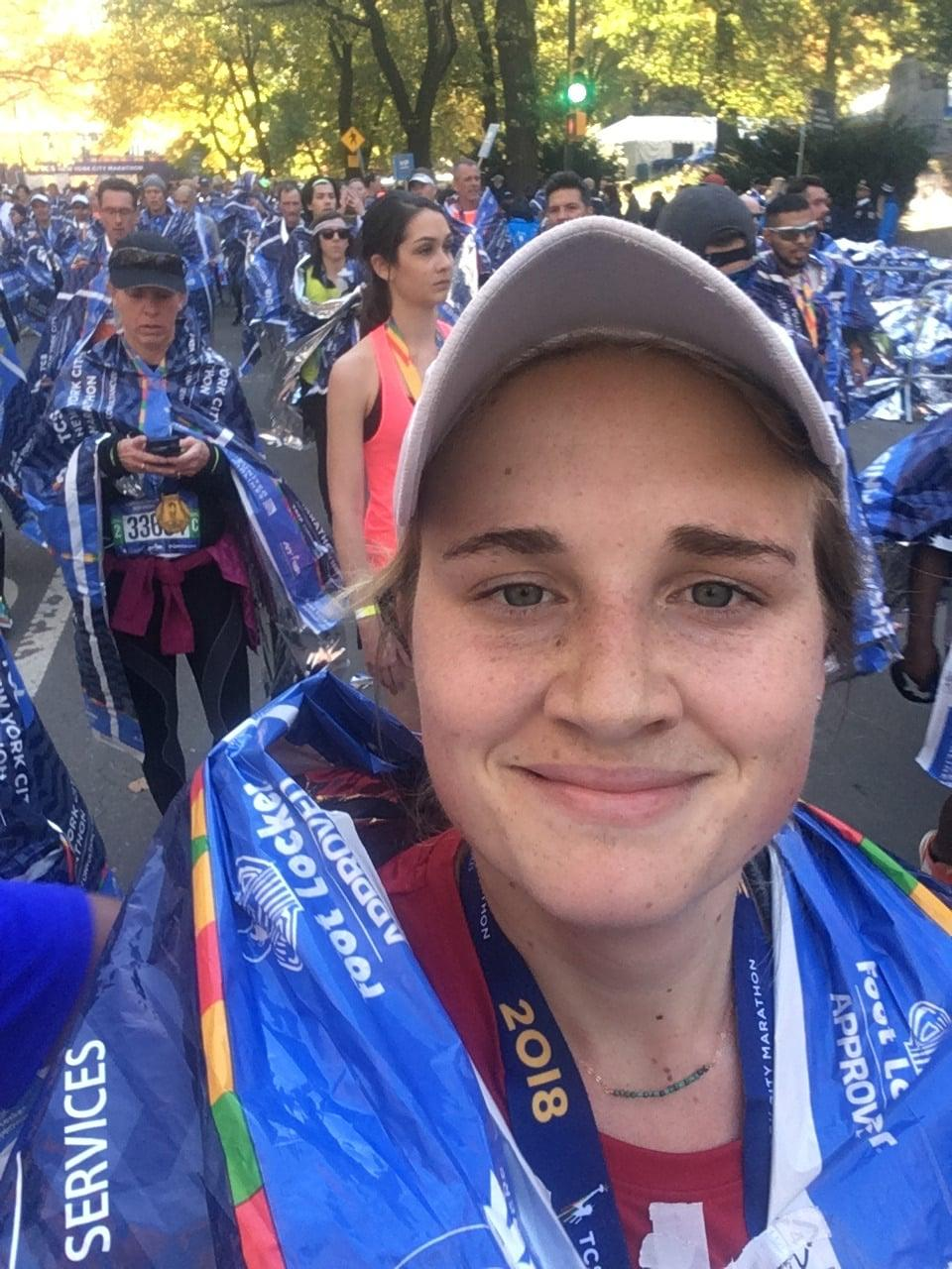 Kirsten New York Marathon Finish Face
