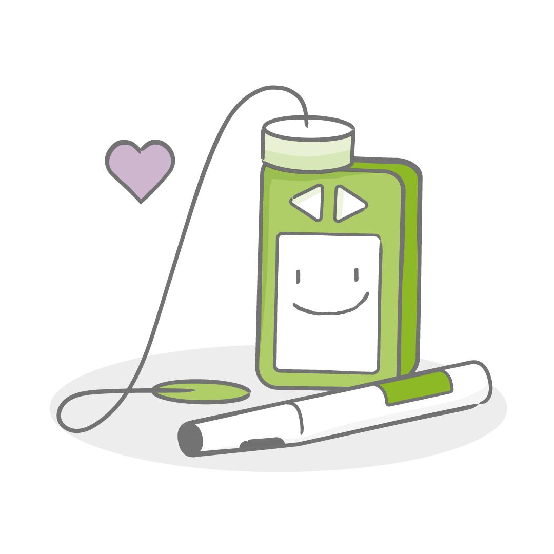 Illustration insulinpump